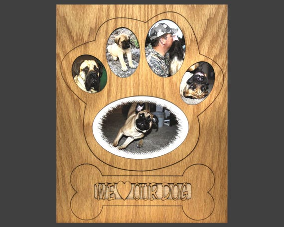 11x14 Dog Picture Frame Collage Mat Insert for Frame Dog Paw