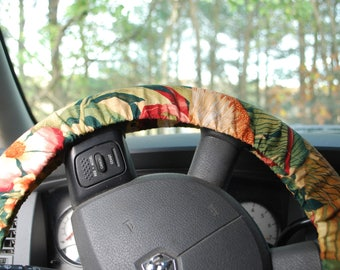 Steering Wheel Cover Multicolored floral pattern Aloha