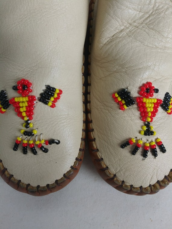 Vintage Child's Moccasins/Soft Leather Baby Slipp… - image 7