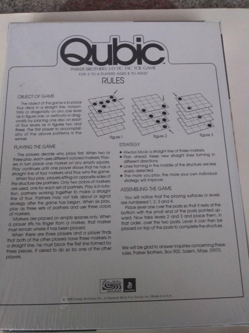 Vintage  Qubic Parker Brothers 3D Tic Tac Toe Game 1972