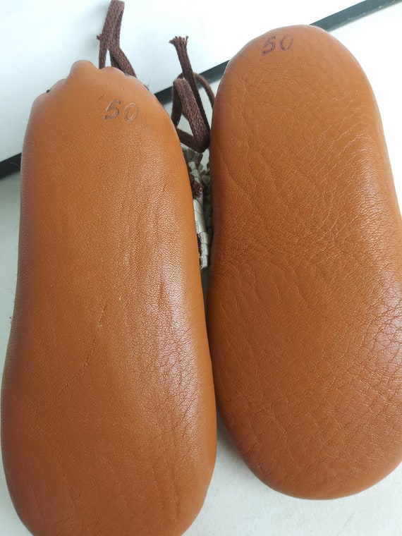 Vintage Child's Moccasins/Soft Leather Baby Slipp… - image 6