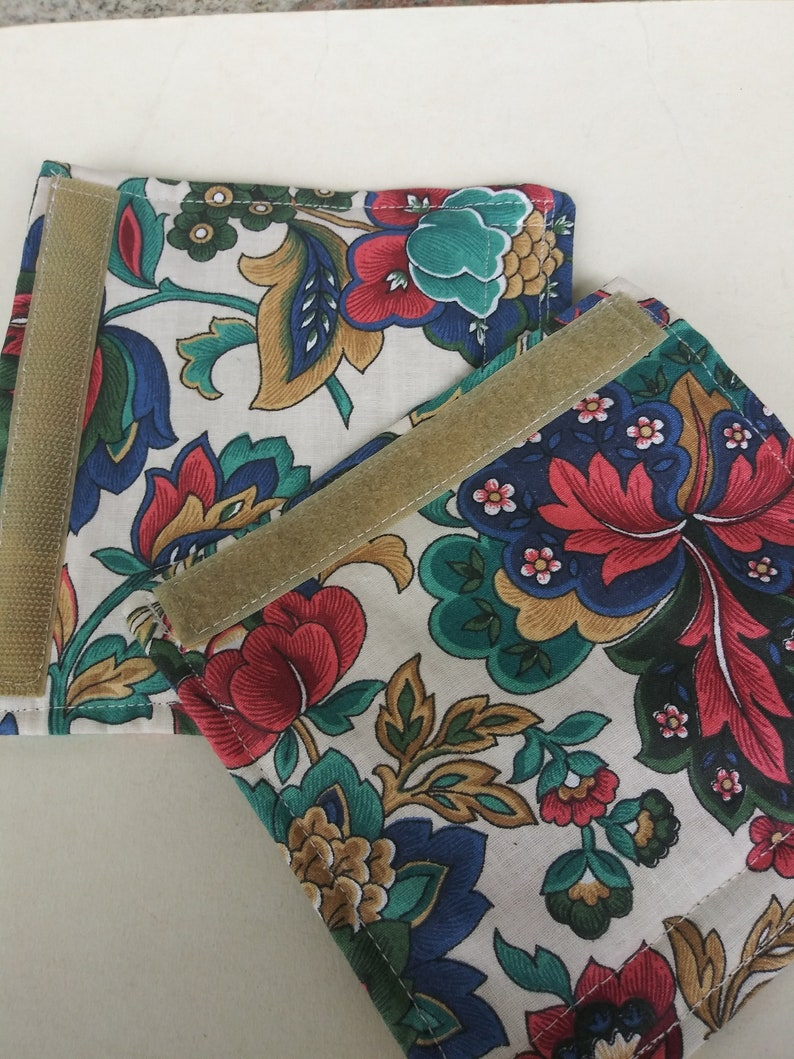 Luggage Handle Wrap Set of 2,Multicolored paisley patterned