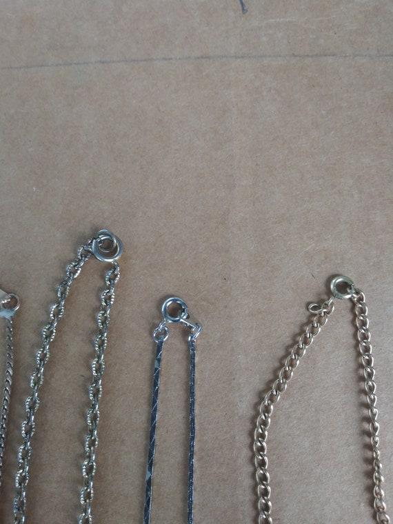 Vintage Costume Jewelry Lot 6 Necklaces 4 Bracelet - image 9