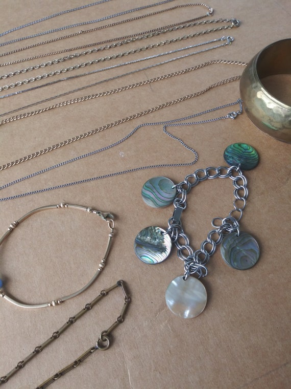 Vintage Costume Jewelry Lot 6 Necklaces 4 Bracelet - image 2