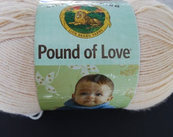 1 skein Lion Brand Yarn pound of love Brige