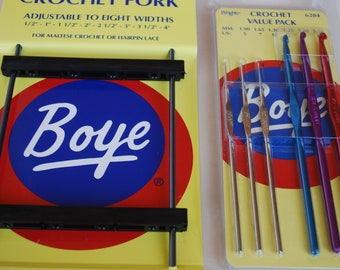 Boye Crochet Fork & Boye Crochet Value Pack hook