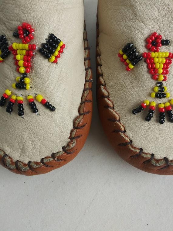 Vintage Child's Moccasins/Soft Leather Baby Slipp… - image 5