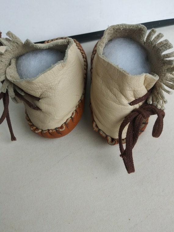 Vintage Child's Moccasins/Soft Leather Baby Slipp… - image 4