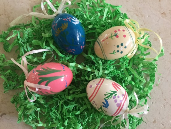 Half Price Sale Handpainted Easter Egg Ornaments Easter Etsy