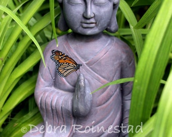 Buddha and Butterfly Photo Collage