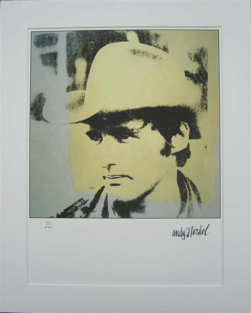 Andy Warhol print Dennis Hopper lithograph with passepartout | Etsy