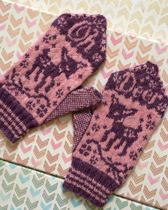 Oh Deer Mittens Mitten Pattern Knitting Pattern Deer Etsy