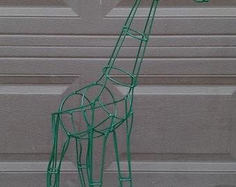 "Giraffe Topiary Frame 32"" Tall"