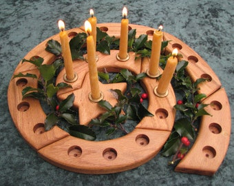 Wooden Advent Celebration Spiral