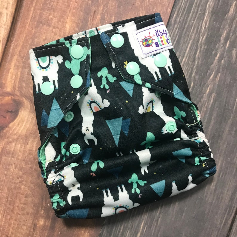 Llamas & Cacti OS Pocket Diaper with Insert image 0