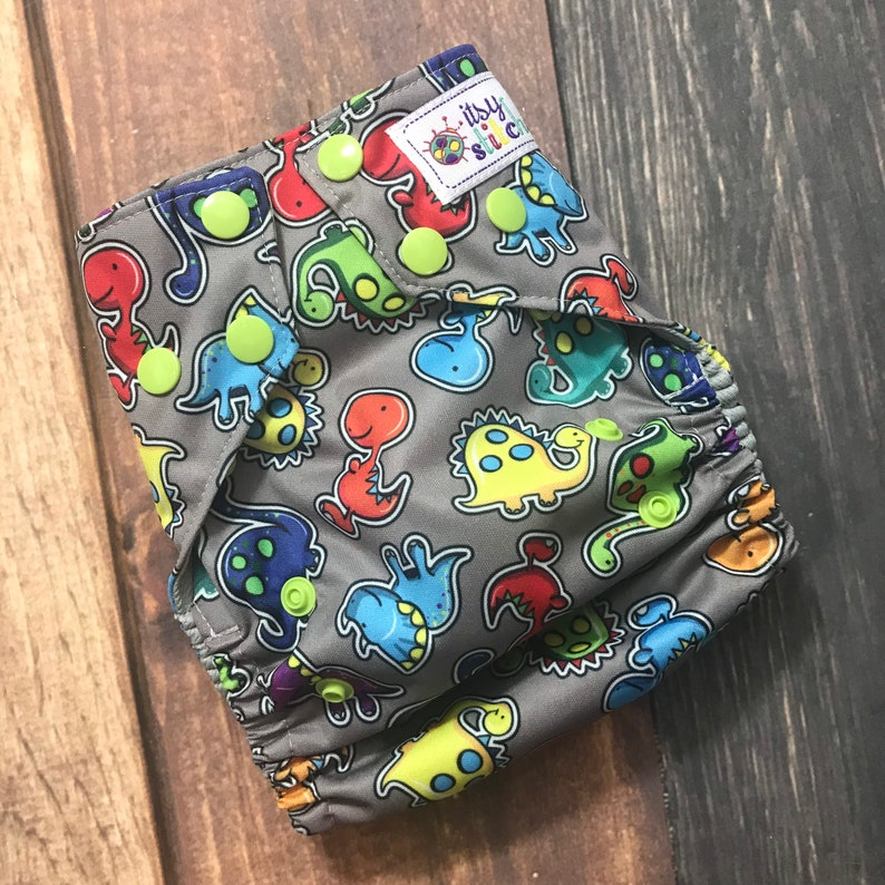 Dino Buddies OS Pocket Diaper with Insert image 0