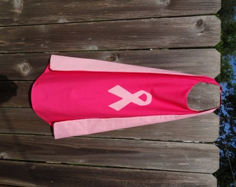 Pink Ribbon Breast Cancer Cape - Handmade
