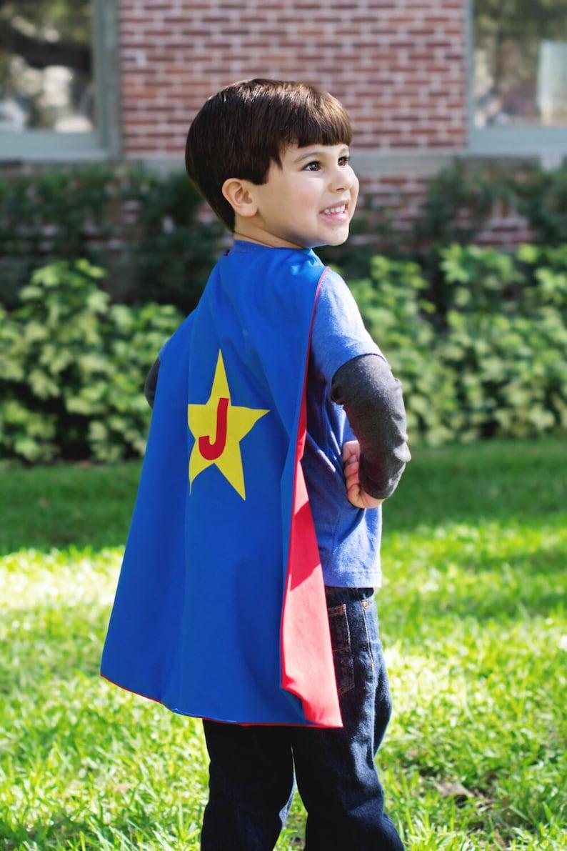 Custom Boy's Cape  Handmade and Reversible image 0