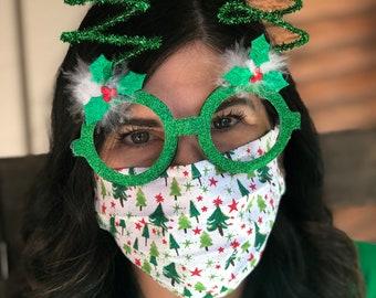 Christmas Tree Handmade Cotton/Poly Face Mask