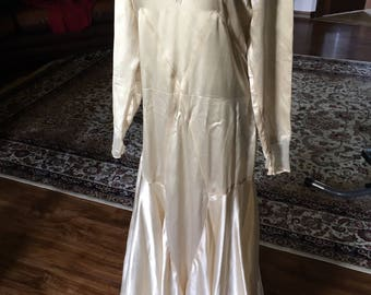 Glorious 1930s Silk Wedding Gown