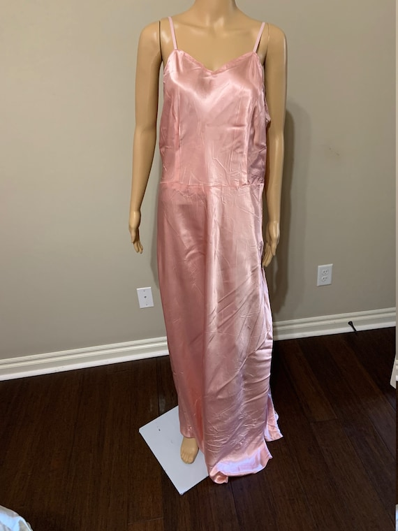 Stunning 1930s Pink Satin Slip Dress