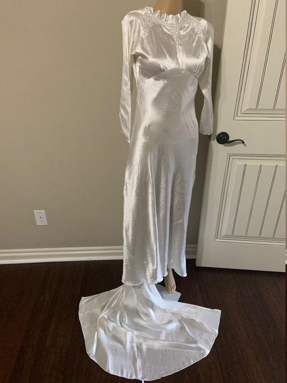 Fantastic 1930s Satin Wedding Gown