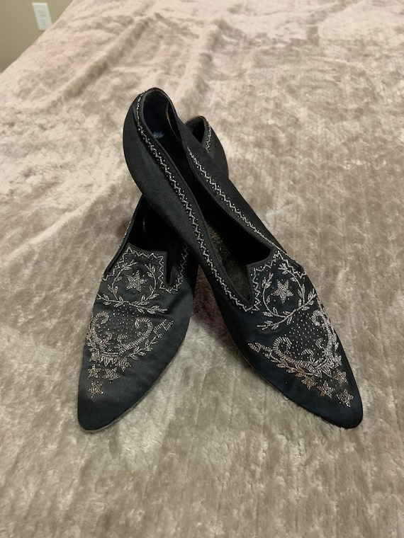 Spectacular Edwardian Silk Beaded Shoes