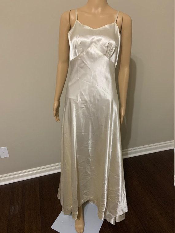 Beautiful 1930s Satin Wedding Gown