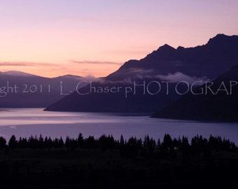 Sunrise Over Queenstowne, New Zealand
