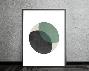 Circle Print, Abstract, Art, Poster, Mid Century Modern, Geometric, Minimalist, Modern, Contemporary