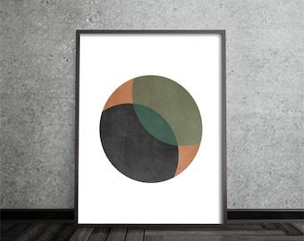 Minimalist, Modern, Contemporary, Circle Print, Abstract, Art, Poster, Mid Century Modern, Geometric,