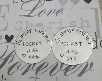 POCKET HUG •a love token• Im always with you• going away gift • gifts for children •organza gift bag for giving
