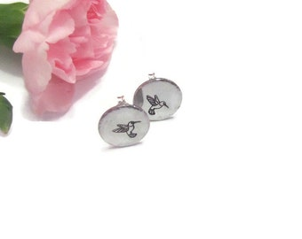 Hummingbird Earrings •Sterling Silver posts • Gifts for her• nature jewelry • best friend gifts •Mothers day earrings •gift boxed