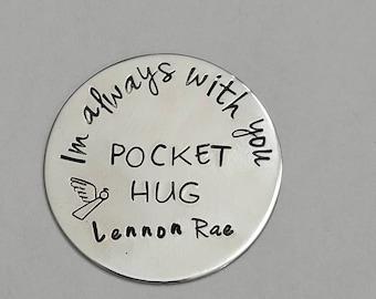POCKET HUG •angel hug token• Im always with you•  remembrance gift •organza gift bag for giving
