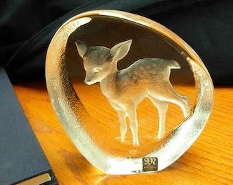 Mats Jonasson Crystal Sculpture Fawn #33374