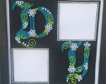 Paper Quilling Name frame, initials