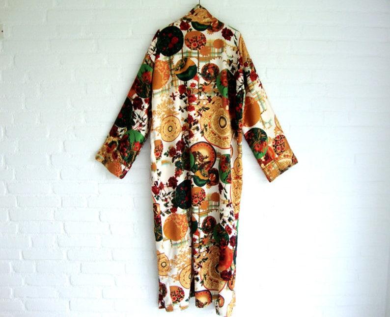 208b3429010216 Strech-Satin Kimono Stil Wrap Kleid Jade grün Ocker rot rosa | Etsy