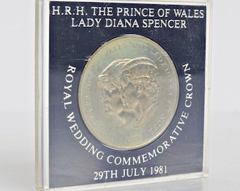 Diana and Charles Royal Wedding Commemorative Crown Coin 1981