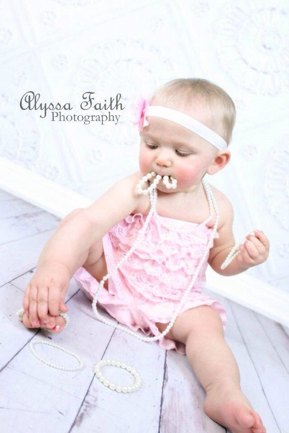 photo prop pearls baby toddler girls pearl necklace costume etsy