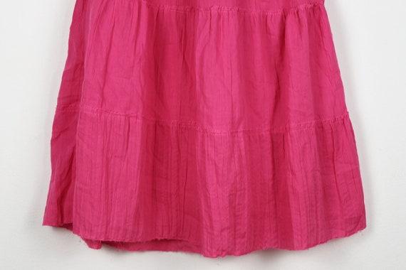 Vintage Pink Tiered Halterneck Midi Dress - image 2