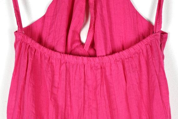 Vintage Pink Tiered Halterneck Midi Dress - image 7