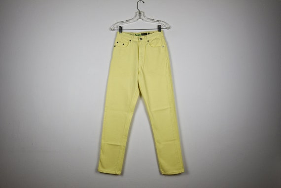 Vintage Mellow Yellow Denim Pants Benetton Skinny