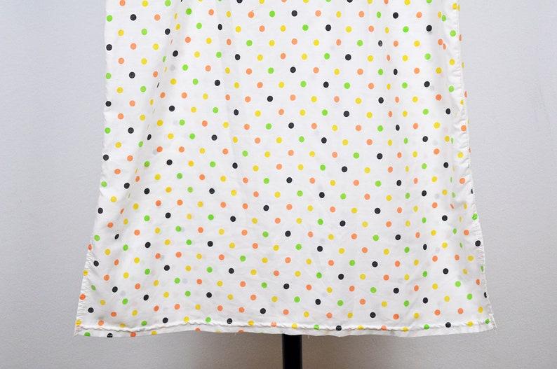 Vintage Multicolor Polka Dot Semi Sheer Short Sleeve Nightgown