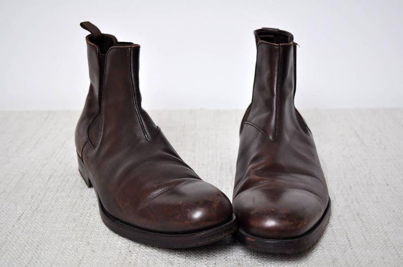 31d6d1859843e Vintage Oxblood skórzane męskie Prada rockabilly buty | Etsy