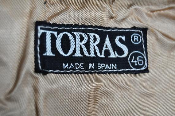 Vintage Tan Suede and Knit Wool Cardigan Jacket - image 4