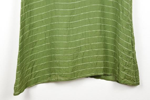 Vintage Sheer Olive Green Midi Dress - image 2