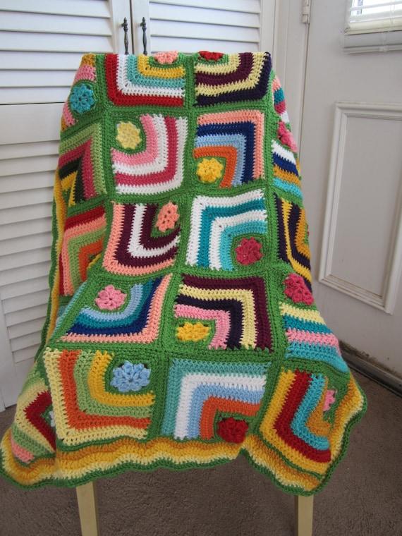 Oma Quadrat häkeln Baby-Decke