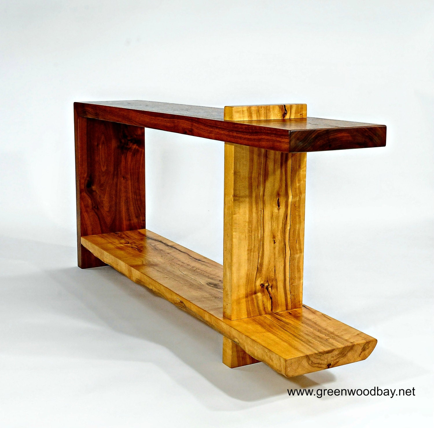 Wood Console Table Wood Sofa Table Walnut Table Maple Wood Table Contemporary Wood Sofa Table Wood End Table Reclaimed Wood Table