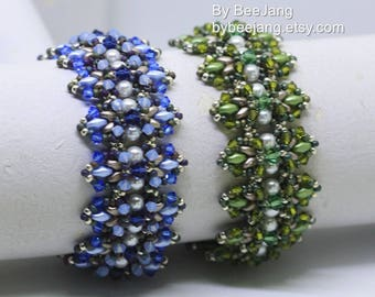 PDF Tutorial - Liliana Bracelet Instant Digital Download Beading Patterns Beadweaving Tutorials