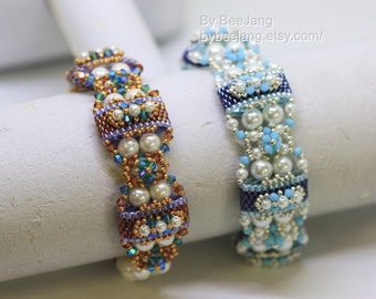 PDF Tutorial - Deepika Carrier Beads bracelet earrings Beading Instruction Beadweaving Pattern Tutorial